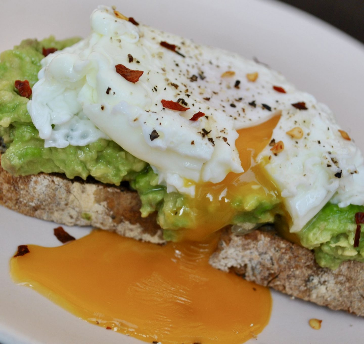 Avocado Toast Poached Eggs Breakfast