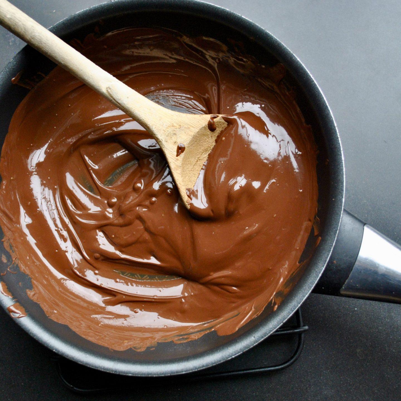 Melting Homemade Chocolate