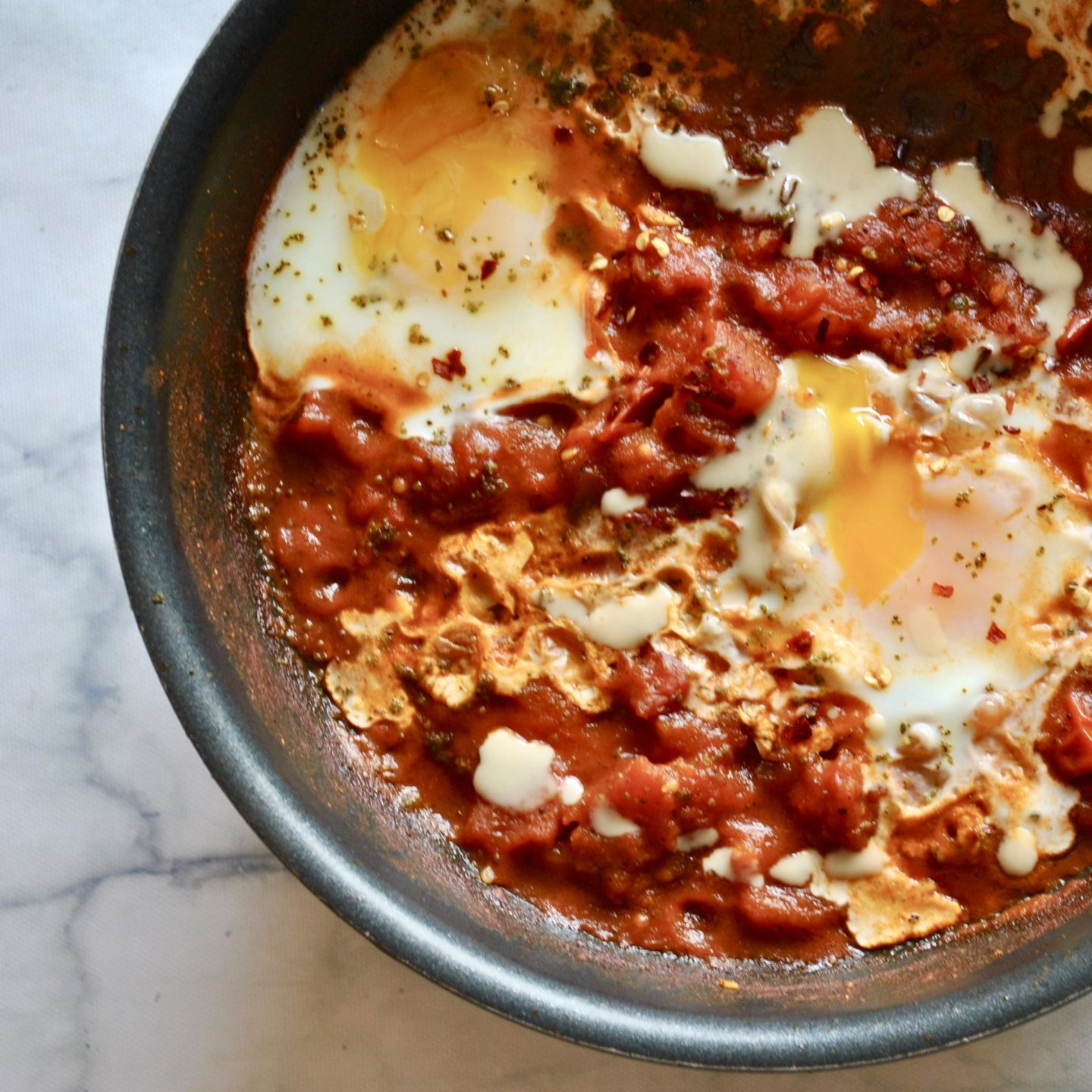 Shakshuka Recipe Eli Brecher cereal and peanut butter
