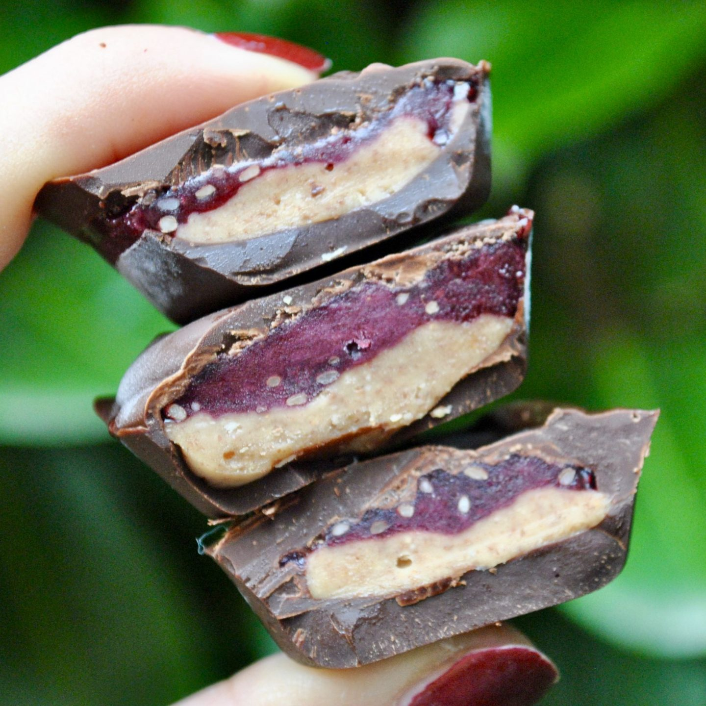 Chocolate Peanut Butter Jelly Cups Vegan