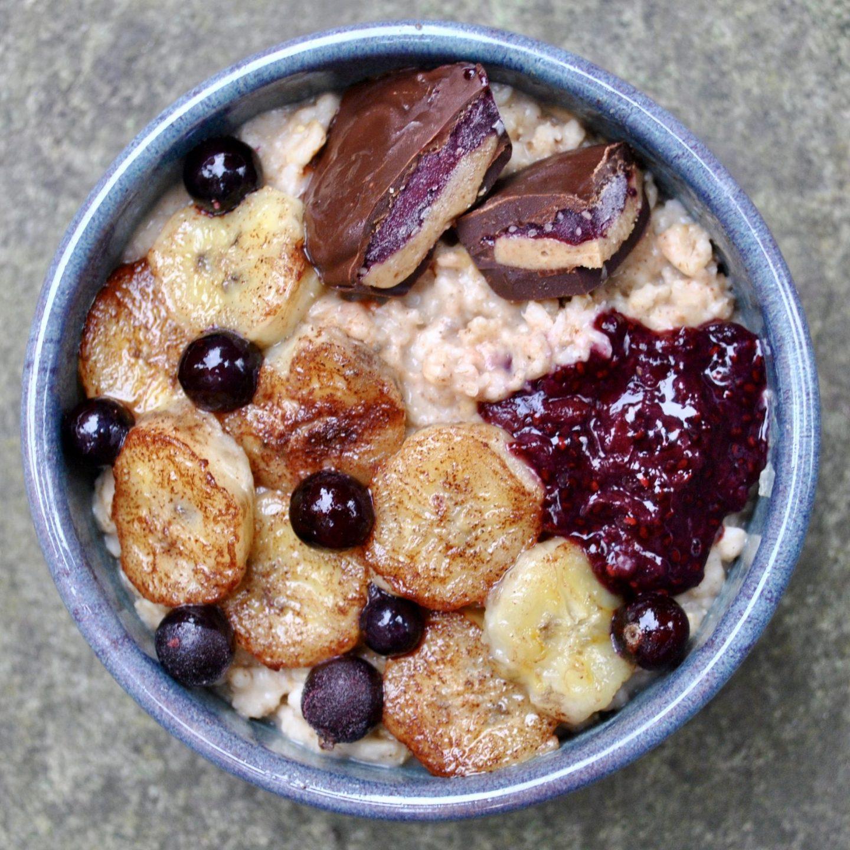 Chocolate Peanut Butter Jelly Cups Vegan Porridge