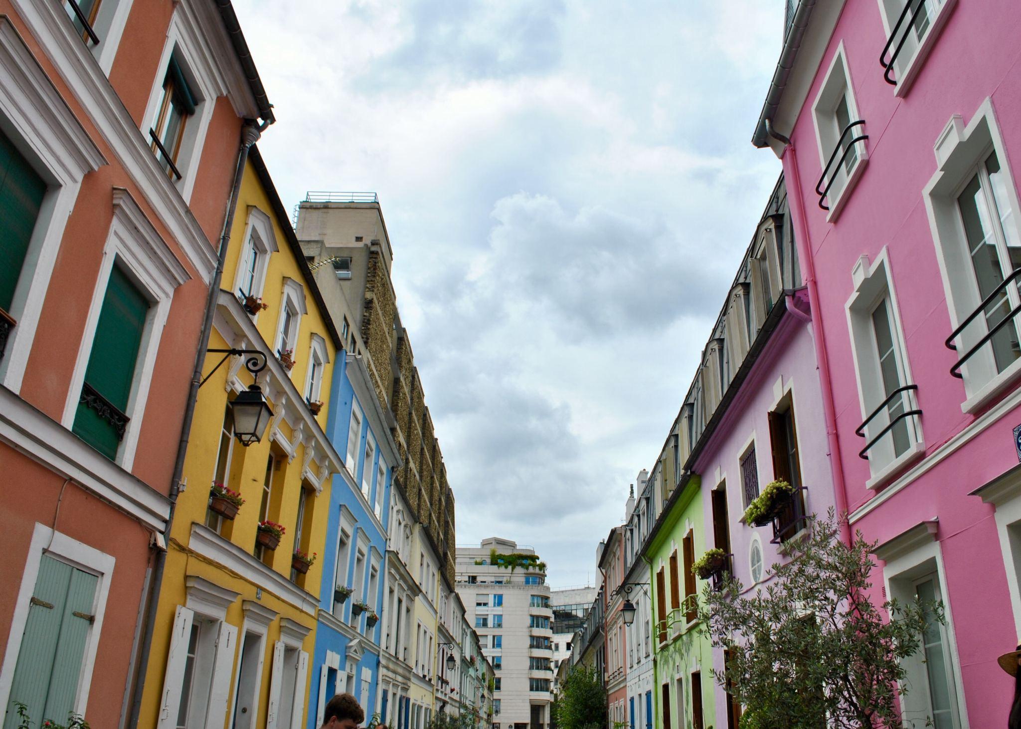 Rainbow row Rue Crémieux