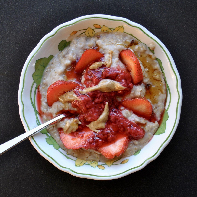 Peanut Butter Jam Porridge