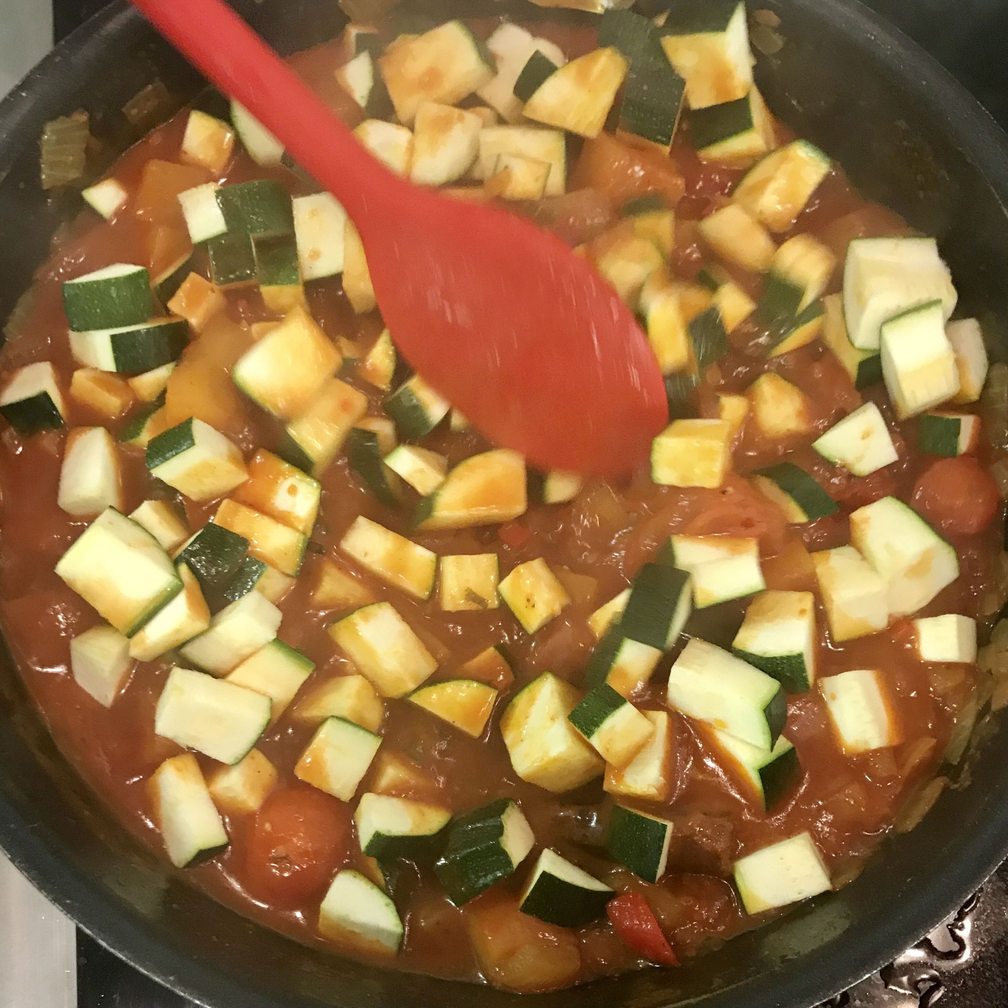 Tagine with butternut squash & courgette