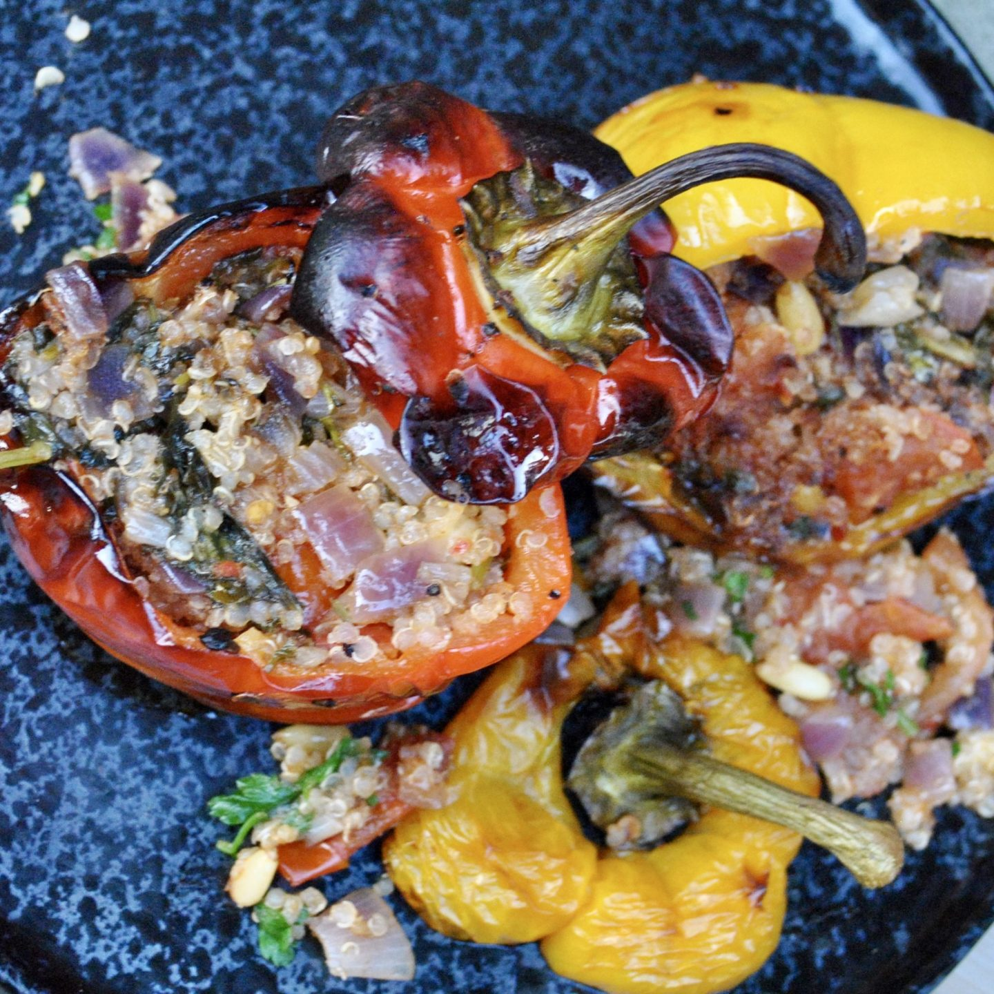 Greek Gemista Stuffed Peppers