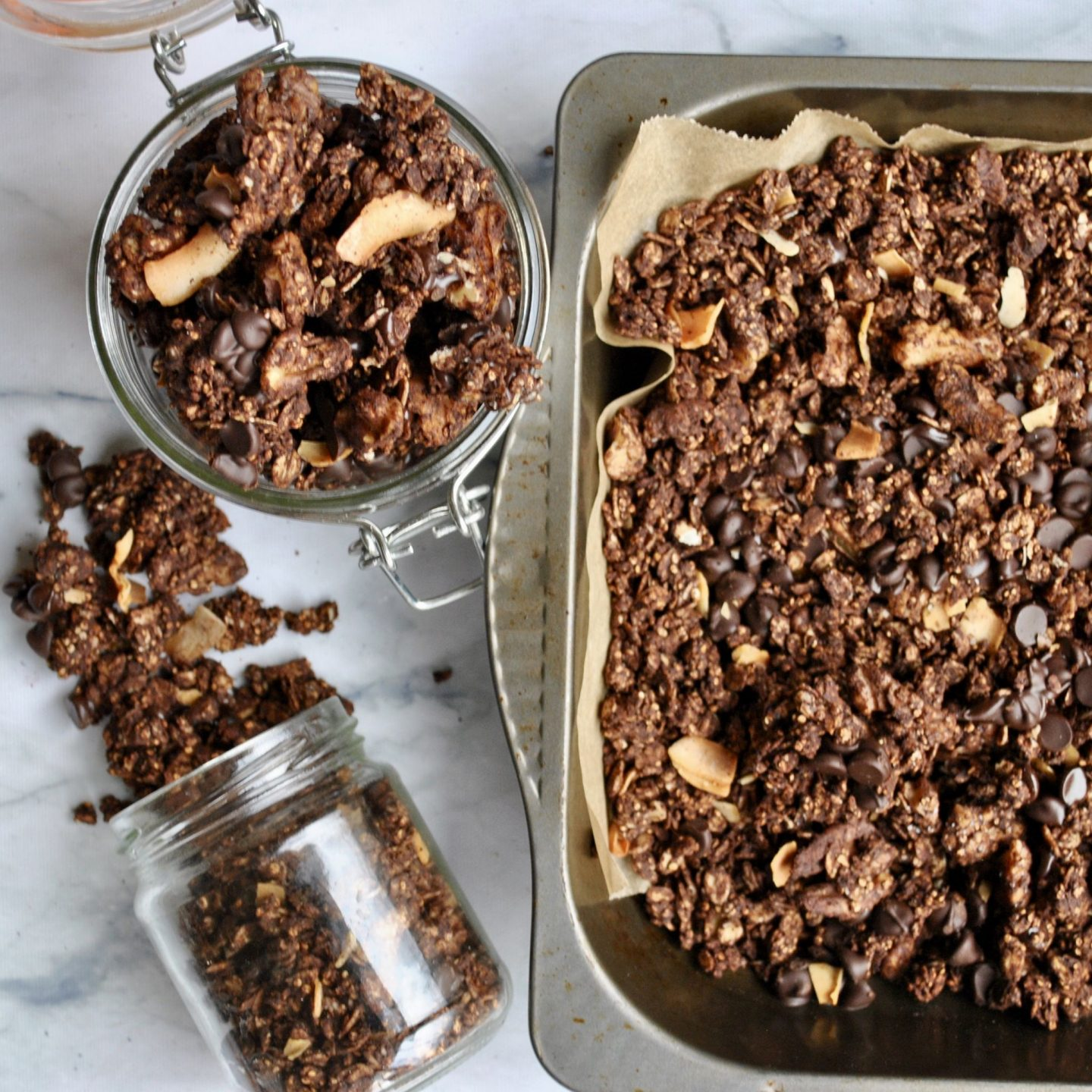 Chocolate Chip Quinoa Granola