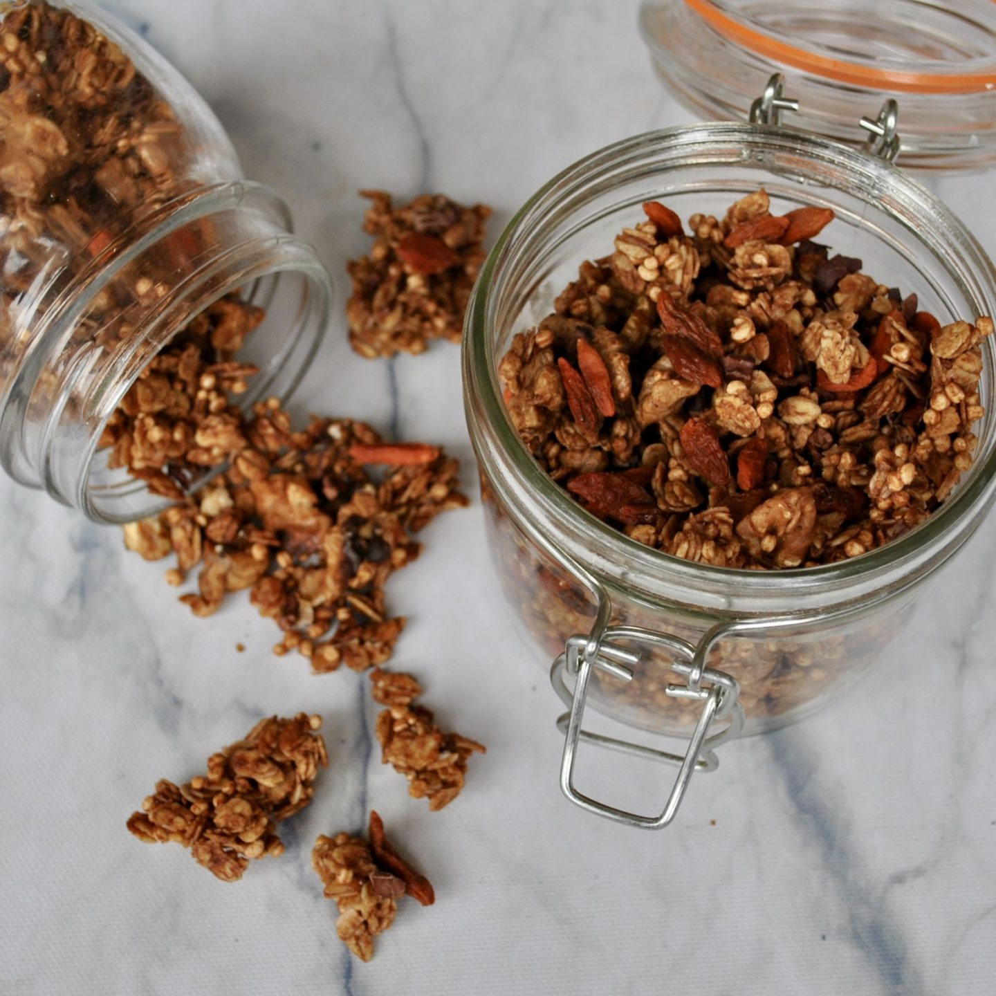 Superfood Granola with Cacao Nibs, Goji Berries & Quinoa