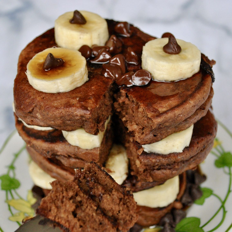 Chocolate Hazelnut Pancakes, Gluten-Free, Dairy-Free, Pancake Day Recipe