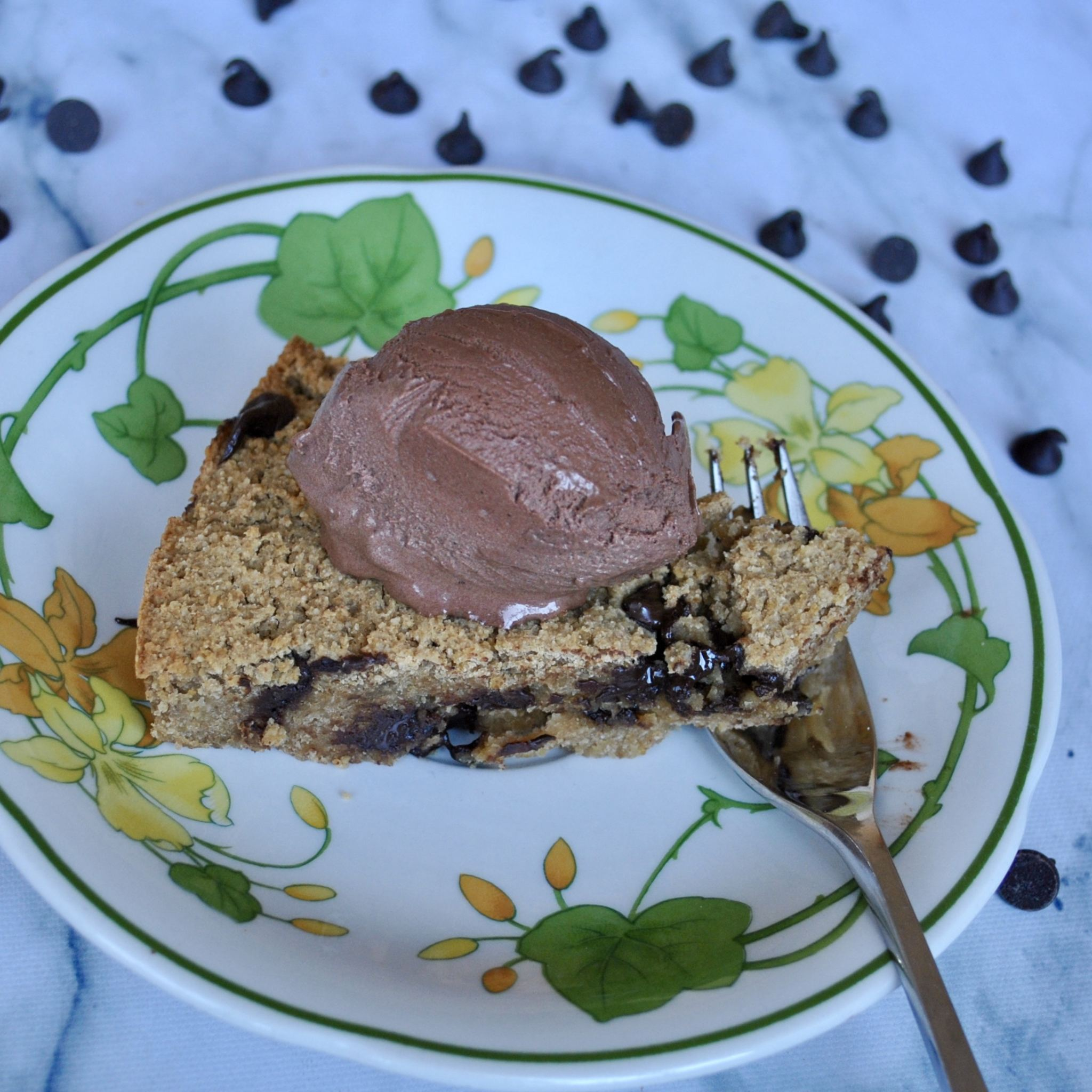 Peanut Butter Cookie Dough Pie Gluten-Free Dairy-Free