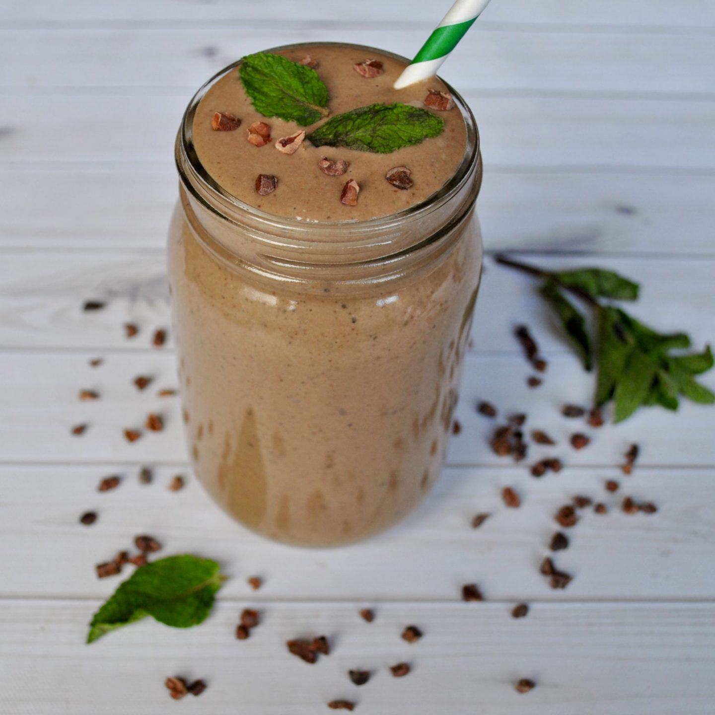 Mint Chocolate Chip Cacao Nib Smoothie