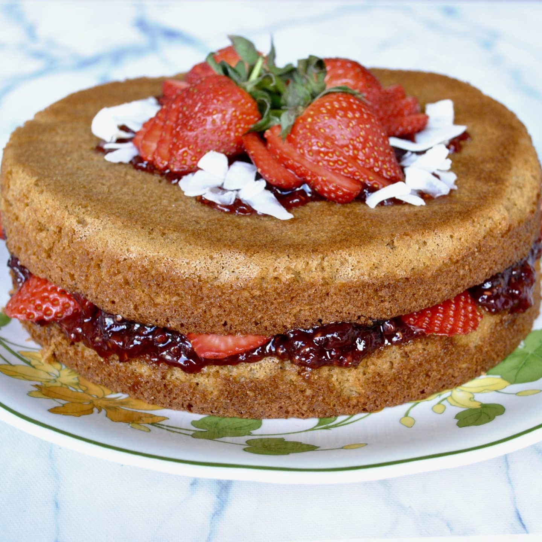 Victoria Sponge Cake, Gluten-Free, Dairy-Free