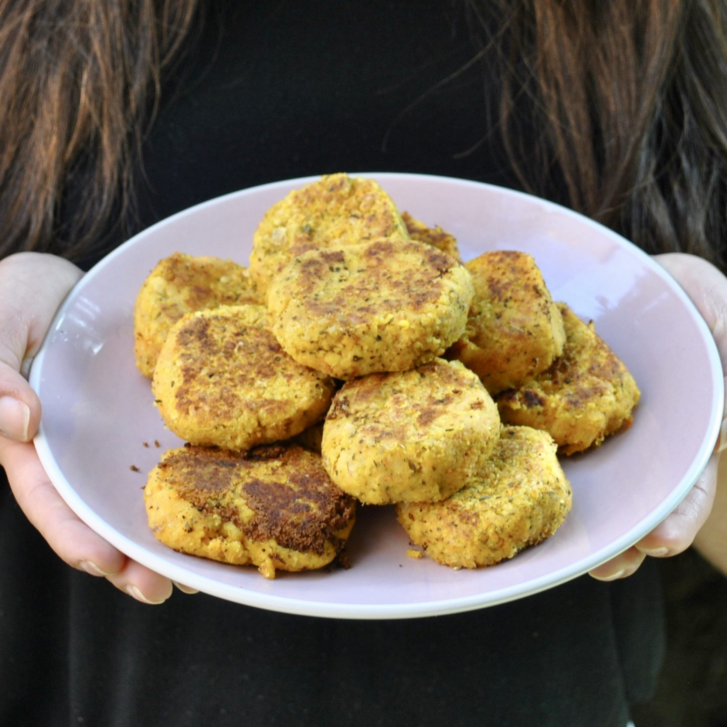 Chickpea Patties Vegan Gluten Free Eli Brecher cereal and peanut butter