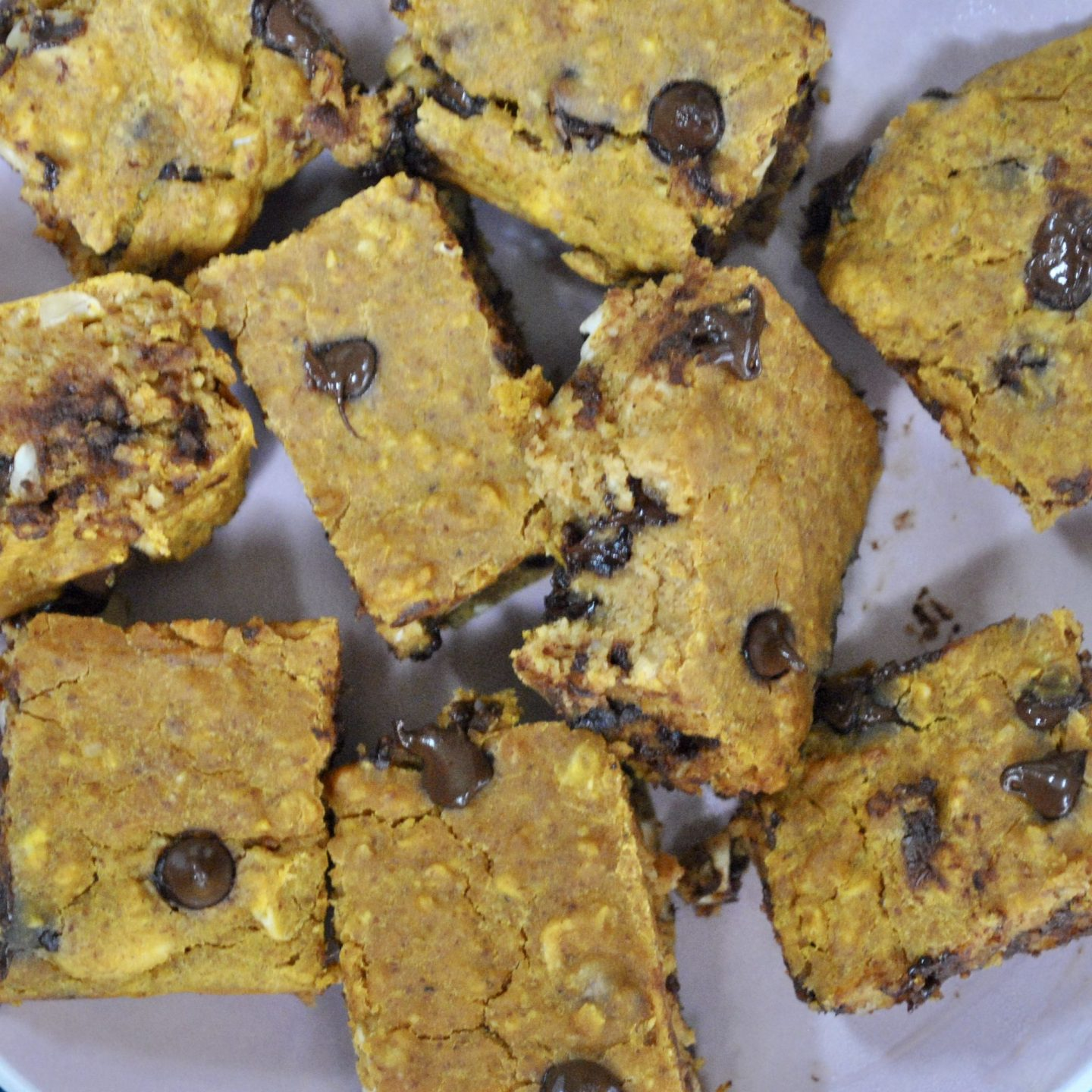 Vegan Pumpkin Chocolate Chip Blondies Recipe Eli Brecher