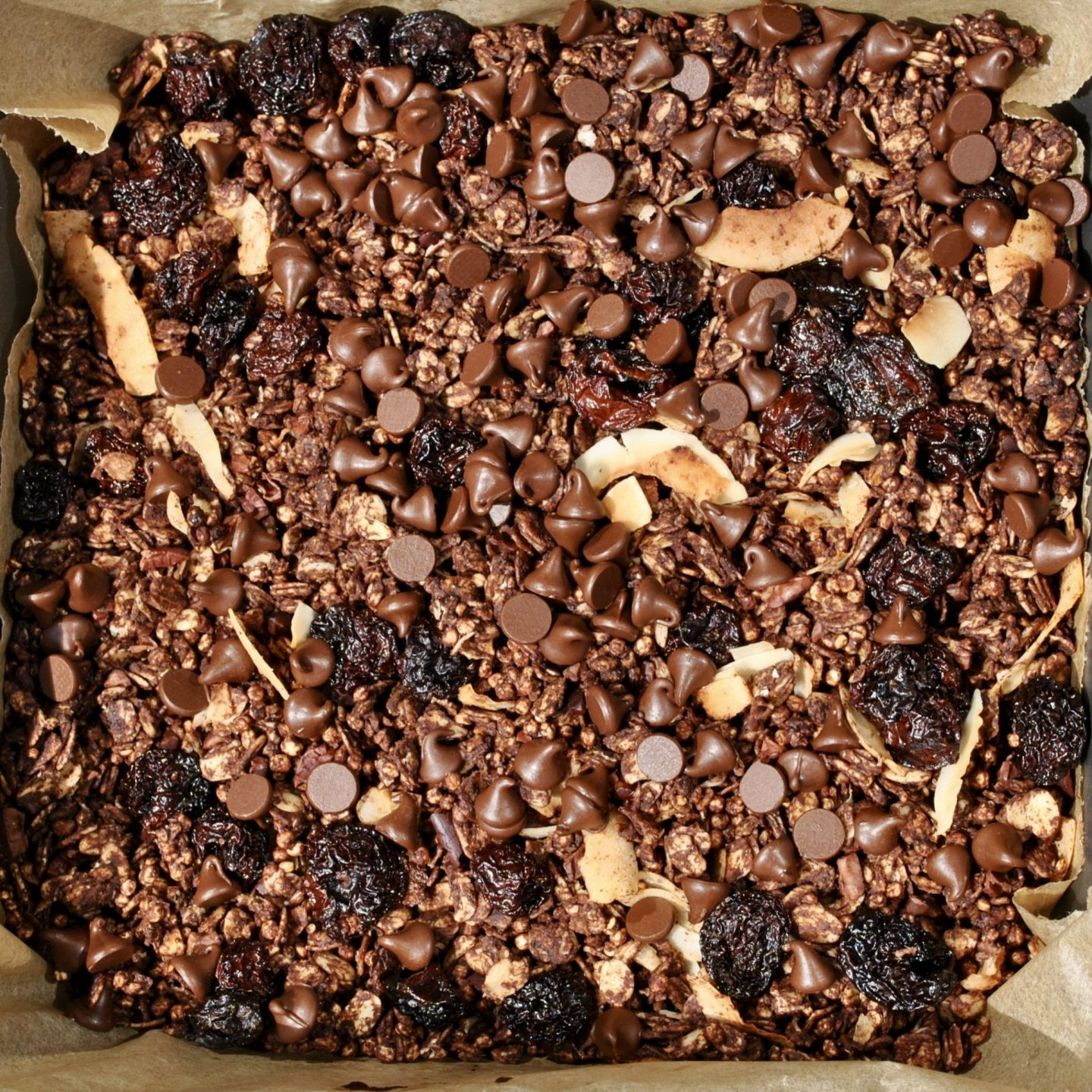 Chocolate, Cherry & Coconut Granola Recipe cereal and peanut butter
