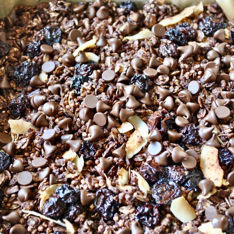Chocolate, Cherry & Coconut Granola Recipe Eli Brecher