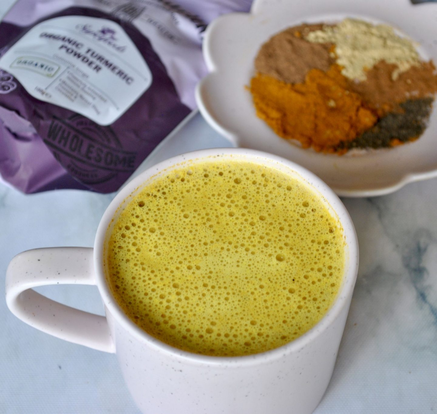 Turmeric Golden Milk Latte, Anti-Inflammatory, Antioxidant Recipe, Eli Brecher @cerealandpeanutbutter