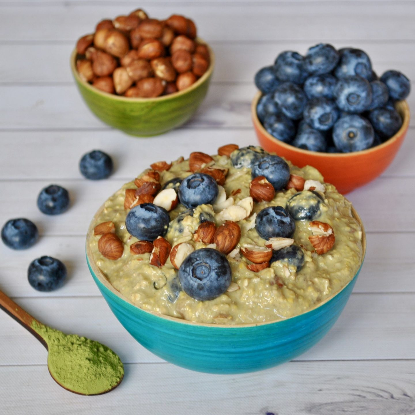 Matcha Overnight Oats Breakfast Recipe, Gluten/Dairy-Free, @cerealandpeanutbutter blog
