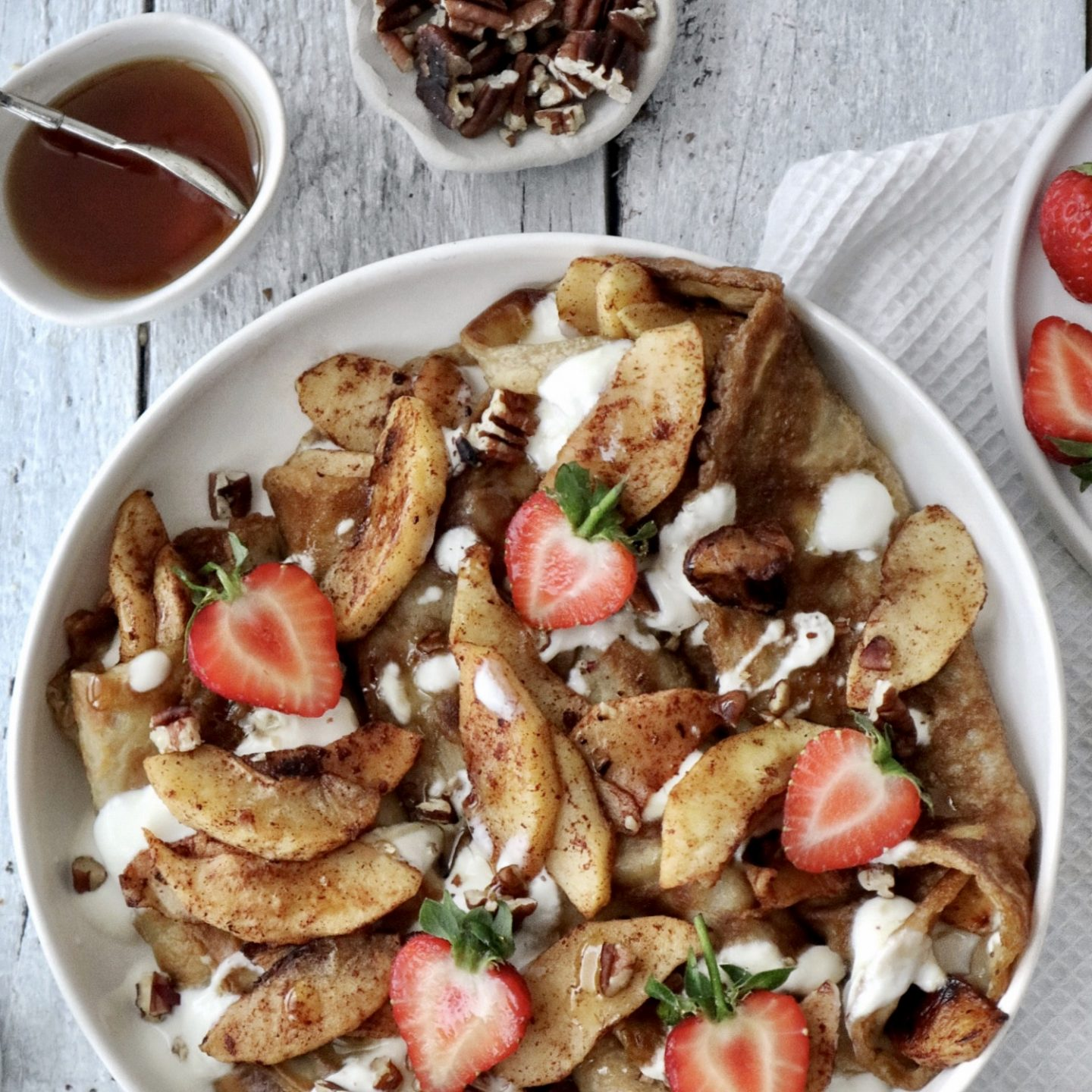 Vegan Crepes Recipe Apple Cinnamon Gluten Free