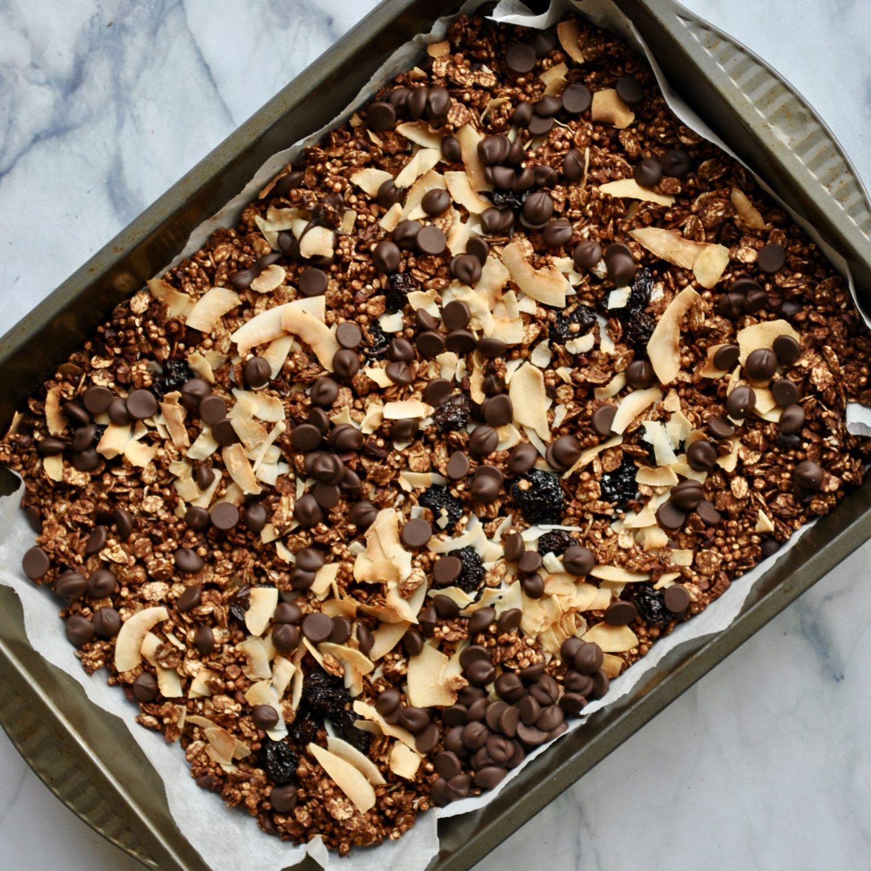 Chocolate Cherry Coconut Granola Vegan Recipe