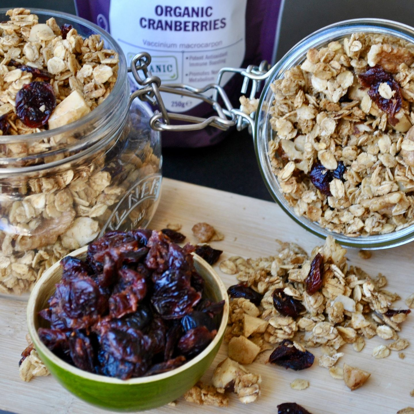 Christmas Spiced Granola Recipe, Festive Xmas Cranberries Blog Vegan