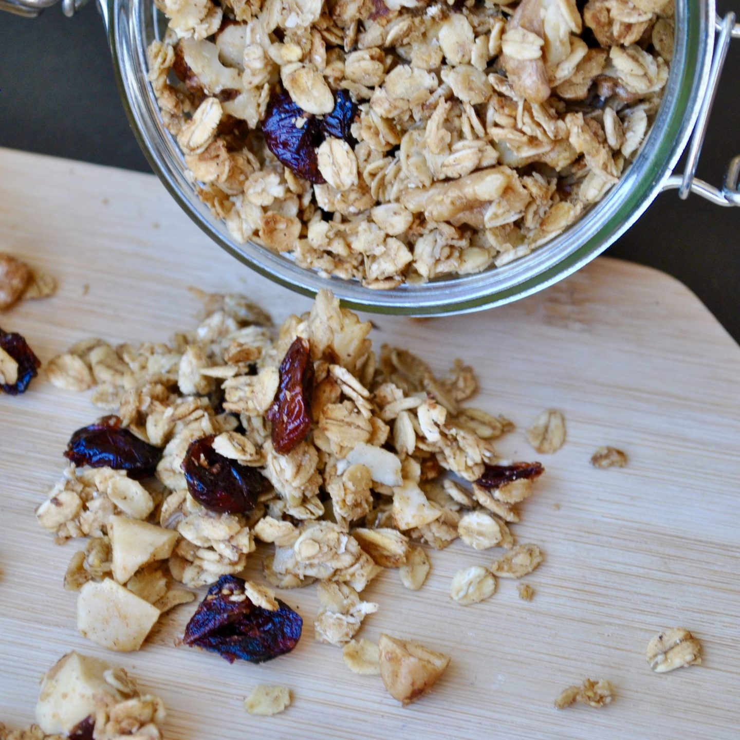 Cranberry Christmas-Spiced Granola
