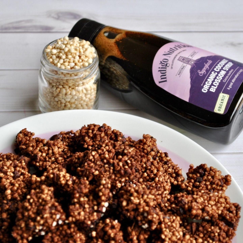 Cacao Coconut Quinoa Clusters Recipe Vegan Gluten-Free