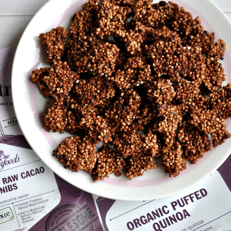 Cacao Coconut Quinoa Clusters Recipe Vegan Eli Brecher