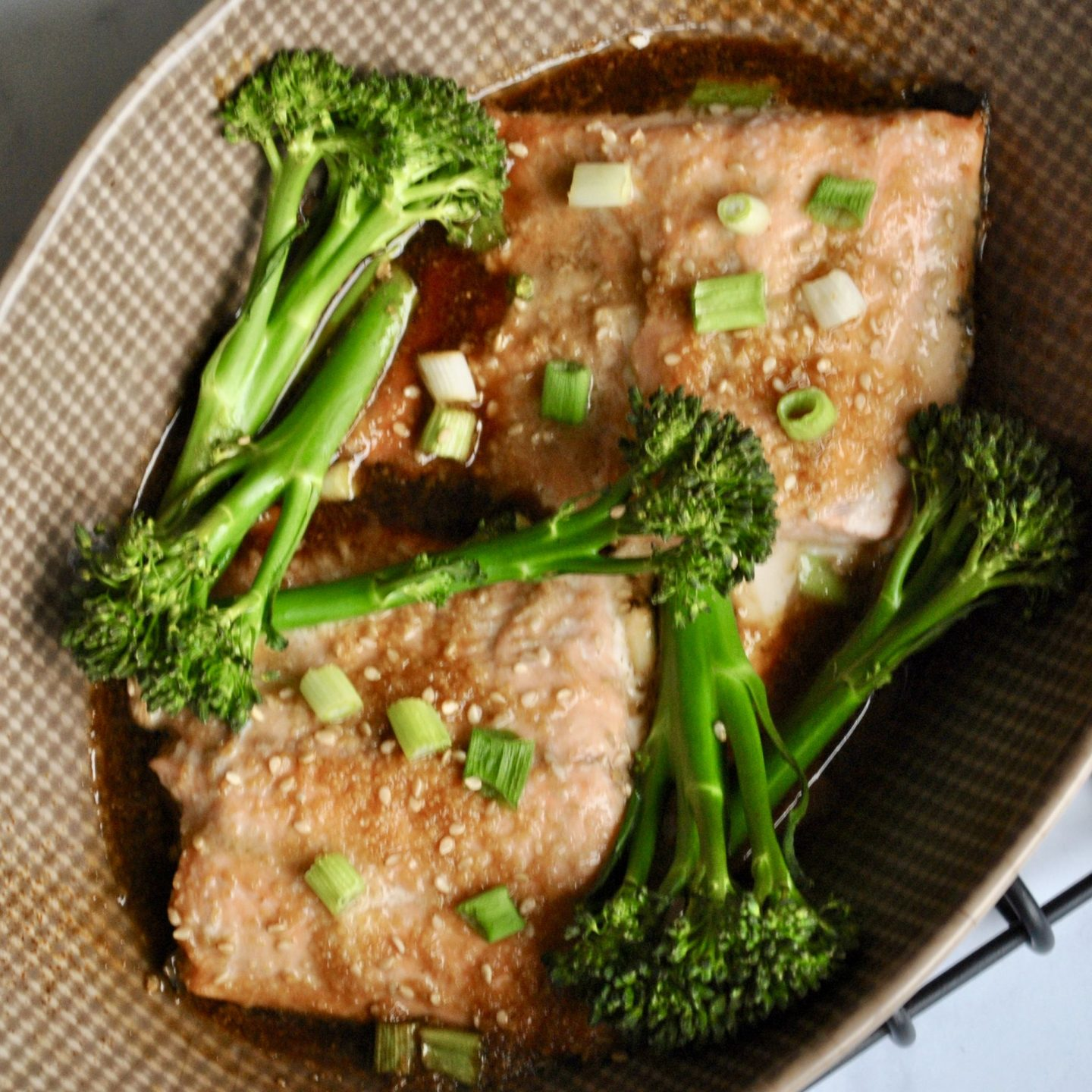 Teriyaki Salmon, Wild Alaska Salmon Recipe, Honey Glaze, Eli Brecher