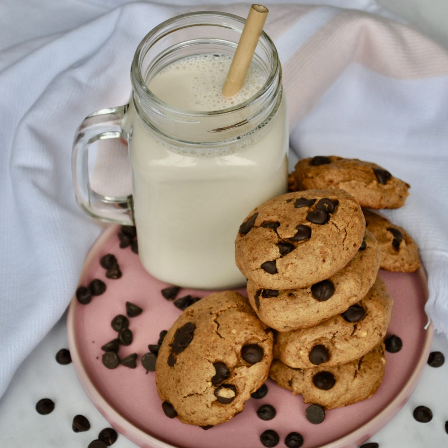 Healthy Chocolate Chip Cookies (Gluten-Free, Oil-Free, Vegan Option)